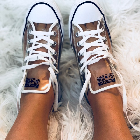 00eb5b9a7a65 Converse Shoes - Clear Plastic Converse Chuck Taylor Womens Size 11
